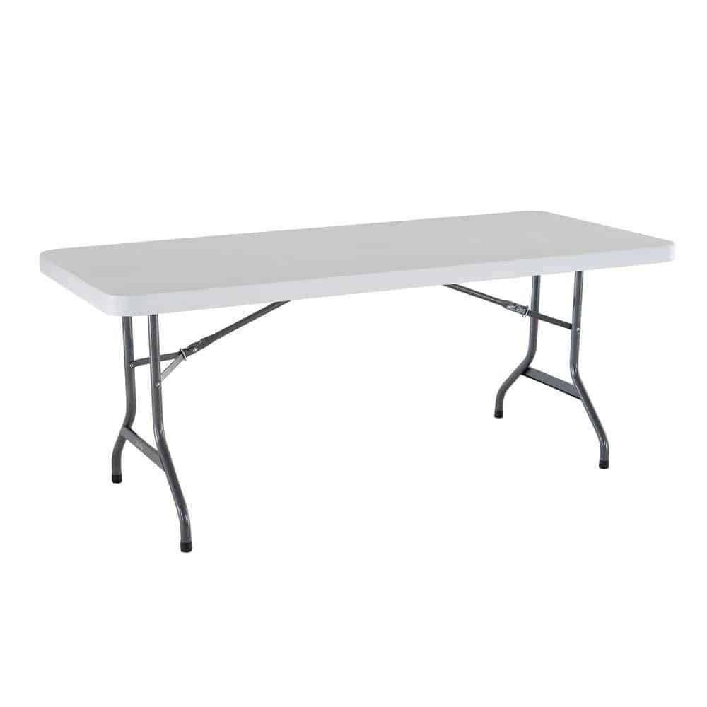6ft Table With 8 Chairs: Table - 6ft. Rectangular Plastic (Seats 6-8)